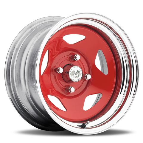 Star FWD - Red Center/Chrome Hoop (Series 021RC)