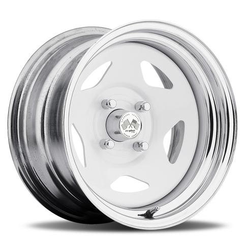 Star FWD -White Center/Chrome Hoop (Series 021WC)